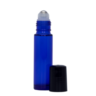 10ml Blue Glass Roller Bottle