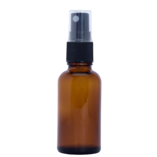 30ml Amber Glass Bottle with Fine Mist Spray Top