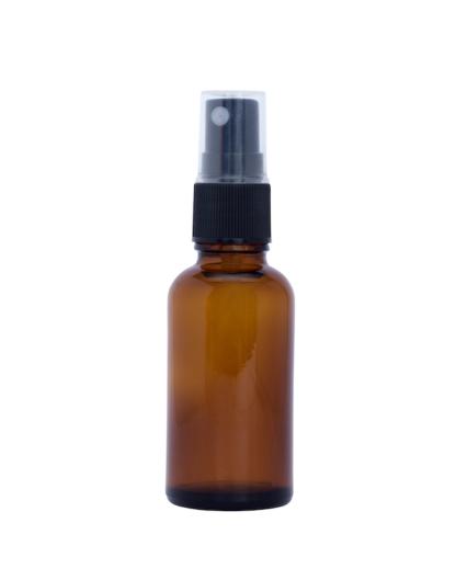 30ml Amber Glass Bottle with Fine Mist Spray Top