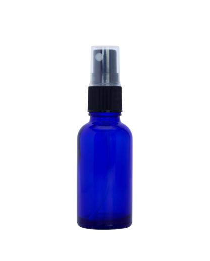 30ml Blue Glass bottle with Fine Mist Spray Top