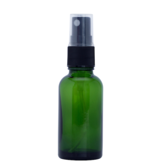 30ml Green Glass Bottle with FIne Mist Spray Top