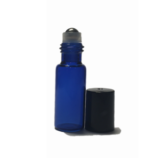 5ml Blue Glass Roller Bottle