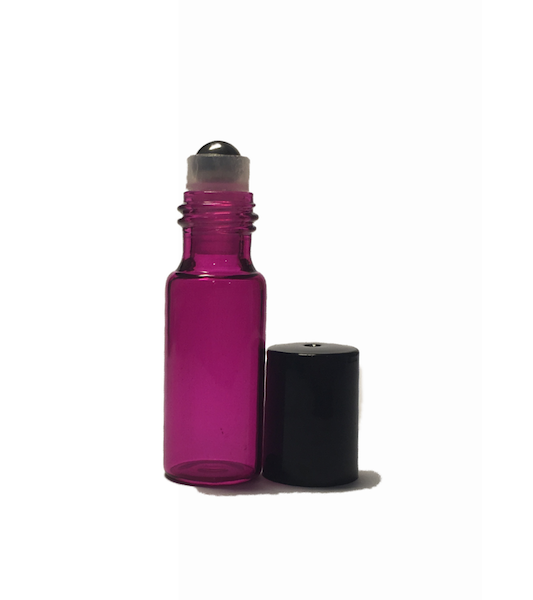 5ml Pink Glass Roller bottle