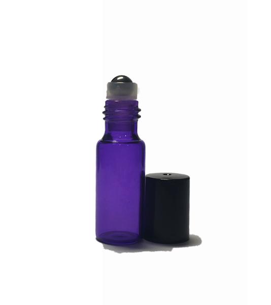 5ml Purple Glass Roller Bottle