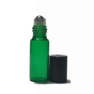 5ml Green Glass Roller Bottles