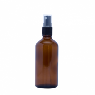 100ml Amber Glass Bottle with Fine Mist Spray Top