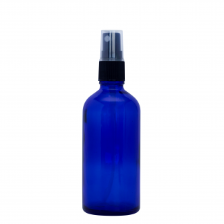 100ml Amber Glass Bottle with Fine Mist Spray Top