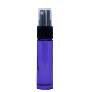 10ml Purple Glass Bottle with Fine Mist Spray Top