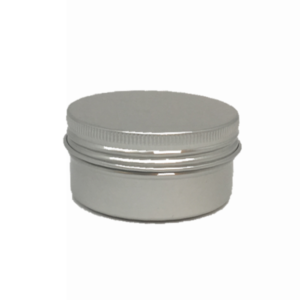 Aluminium Round Cosmetic Tin 50grams