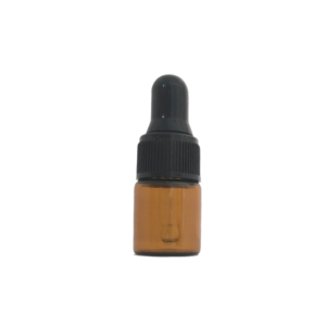 2ml Amber Glass Vial with Glass Dropper