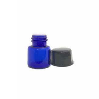 1ml Blue Glass Vial with Oriface Reducer