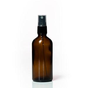 Euro 100ml Amber Bottle with Fine Mist Spray Top