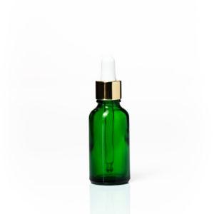 Glass Dropper Bottle - Gold Lid