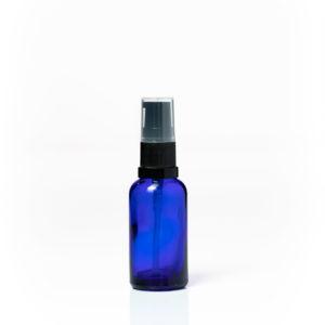 Euro 30ml Blue Glass Bottle with Serum Pump Spray