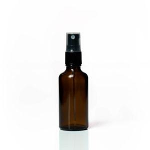 Euro 50ml Amber Bottle with Fine Mist Spray Top