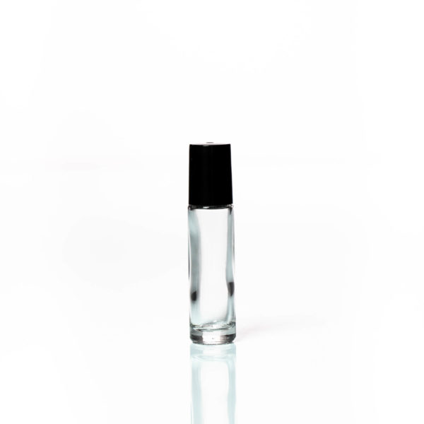 10ml clear glass bottle with Rollerball with black lid 2200 x 2200 | Wholesale Aroma Supplies | NZ