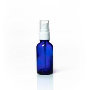 Euro 30ml Blue Glass Bottle with White Fine Mist Spray