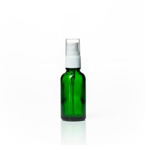 Euro 30ml Green Glass Bottle with White Fine Mist Spray