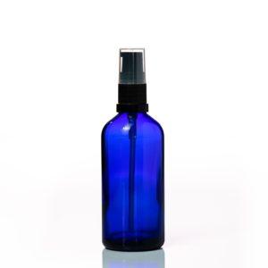 Euro 100ml Blue Bottle with Serum Pump Spray