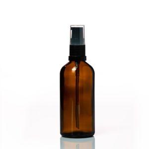 Euro 100ml Amber Bottle with Serum Pump Spray
