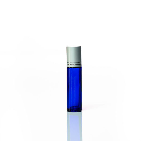 10ml blue glass bottle with Rollerball with Silver Lid 2200 x 2200 | Wholesale Aroma Supplies | NZ