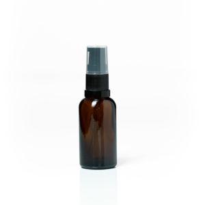 30ml Amber Glass with Black Serum Pump