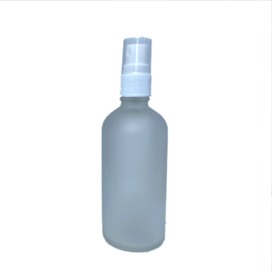 Euro 100ml Frosted Bottle with White Fine Mist Spray Top