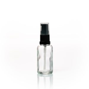 Euro 30ml Clear Glass Bottle with Serum Pump Spray