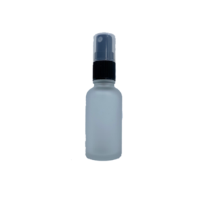 Euro 30ml Frosted Glass Bottle with Black Fine Mist Spray