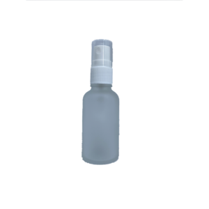 Euro 30ml Frosted Glass Bottle with White Fine Mist Spray