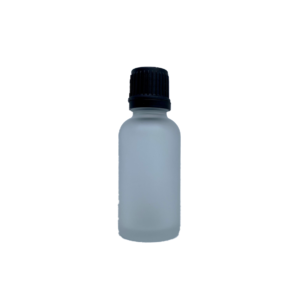 Euro 30ml Frosted Bottle with Orifice Reducer and Black Cap