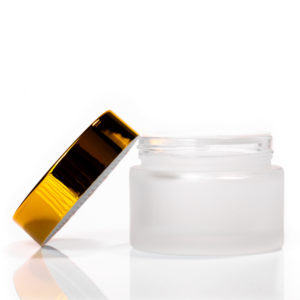 50ml Frosted Glass Jar with Gold Lid