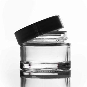 100ml Clear Glass Jar with Black Lid