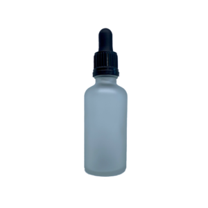 Euro 50ml Frosted Bottle with Tampertel Dropper