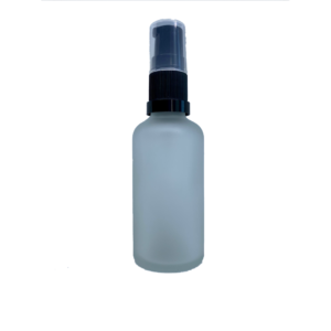 Euro 50ml Frosted Bottle with Serum Pump Spray