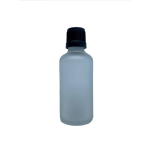 Euro 50ml Frosted Bottle with Orifice Reducer and Black Cap