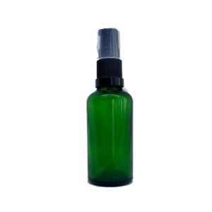 Euro 50ml Green Bottle with Serum Pump Spray