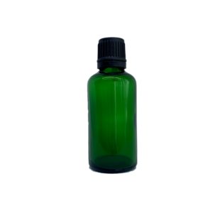 Euro 50ml Green Bottle with Orifice Reducer and Black Cap