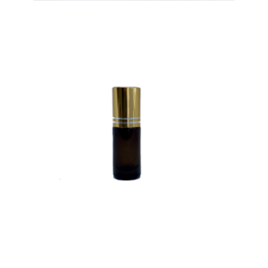 5ml Amber Roller Bottle with Gold Lid