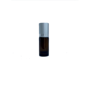 5ml Amber Roller Bottle with Silver Cap