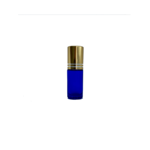5ml Blue Roller Bottle with Gold Cap