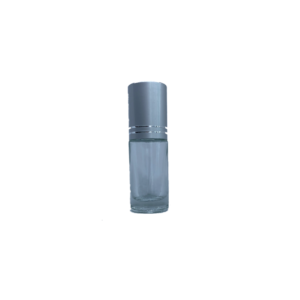 Petra 5ml Clear Glass Bottle with Roller Ball and Silver Cap