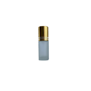 5ml Frosted Glass Roller Bottle with Gold Cap