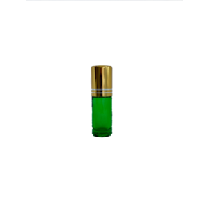 Petra 5ml Green Glass Bottle with Roller Ball and Gold Cap