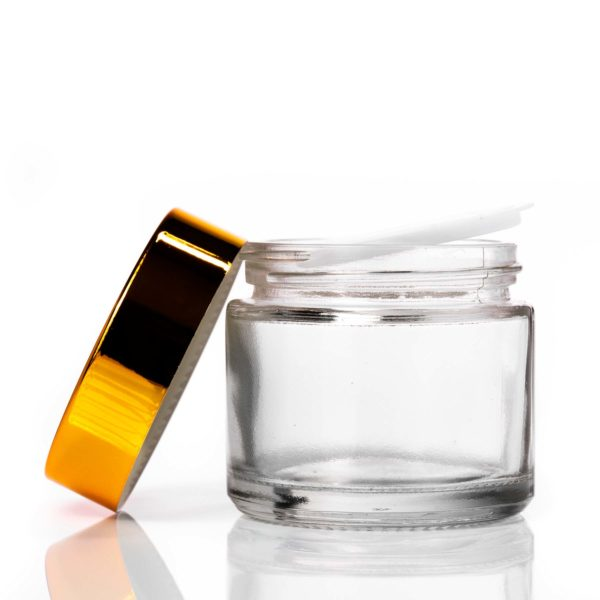60ml Clear Glass Jar with Gold Lid