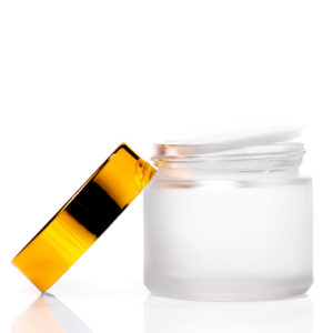 60ml Frosted Glass Jar with Gold Lid