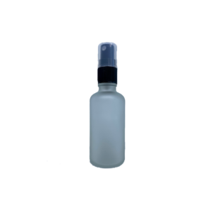 Euro 50ml Frosted Bottle with Black Fine Mist Spray Top