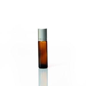 Petra 10ml Amber Glass Bottle with Roller Ball and Silver Cap