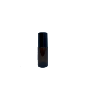 Petra 5ml Amber Glass Bottle with Roller Ball and Black Cap