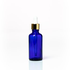 Euro 50ml Blue Bottle with Gold Dropper